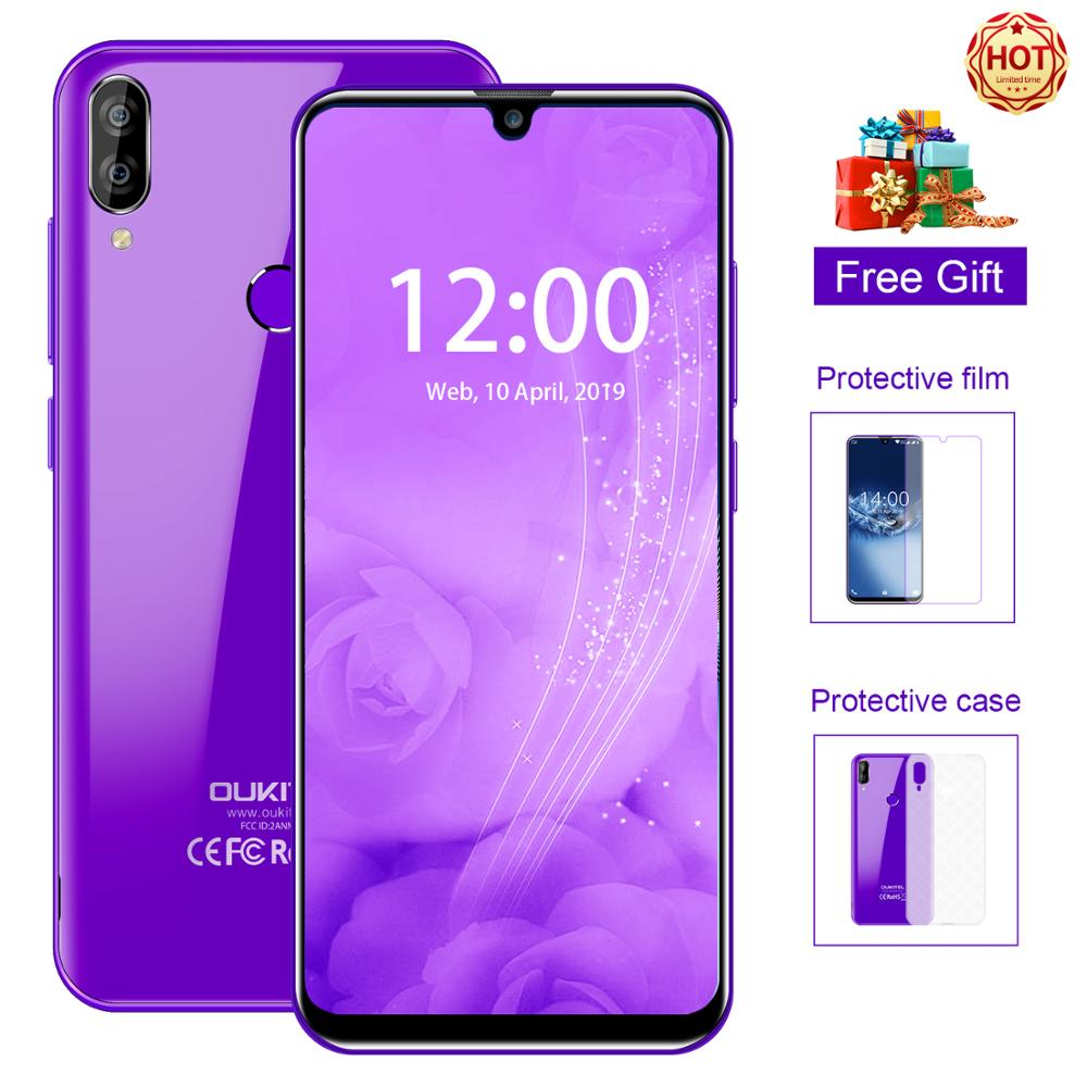 OUKITEL C16 Mobile Phone Android 9.0 Quad Core 2G RAM 16G ROM Cellphone 2600mAh Dual Camera Unlock 5.71 inch Smartphone