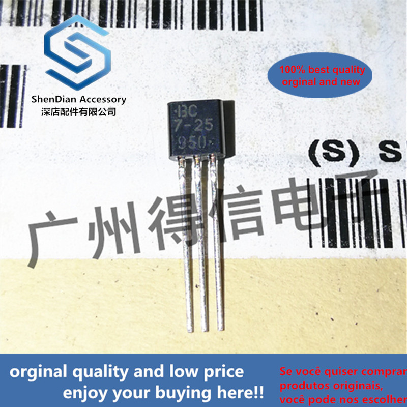 30pcs 30pcs 100% Orginal New BC327-25 Silk-screen BC 7-25 TO-92 PNP General Purpose Transistor Real Photo