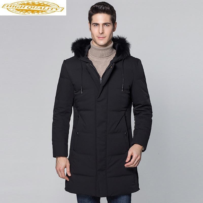2020 New Duck Down Jacket Men Big Fox Fur Collar Winter Down Coat Male Parka Outerwear Men's Jackets Abrigo Hombre KJ559