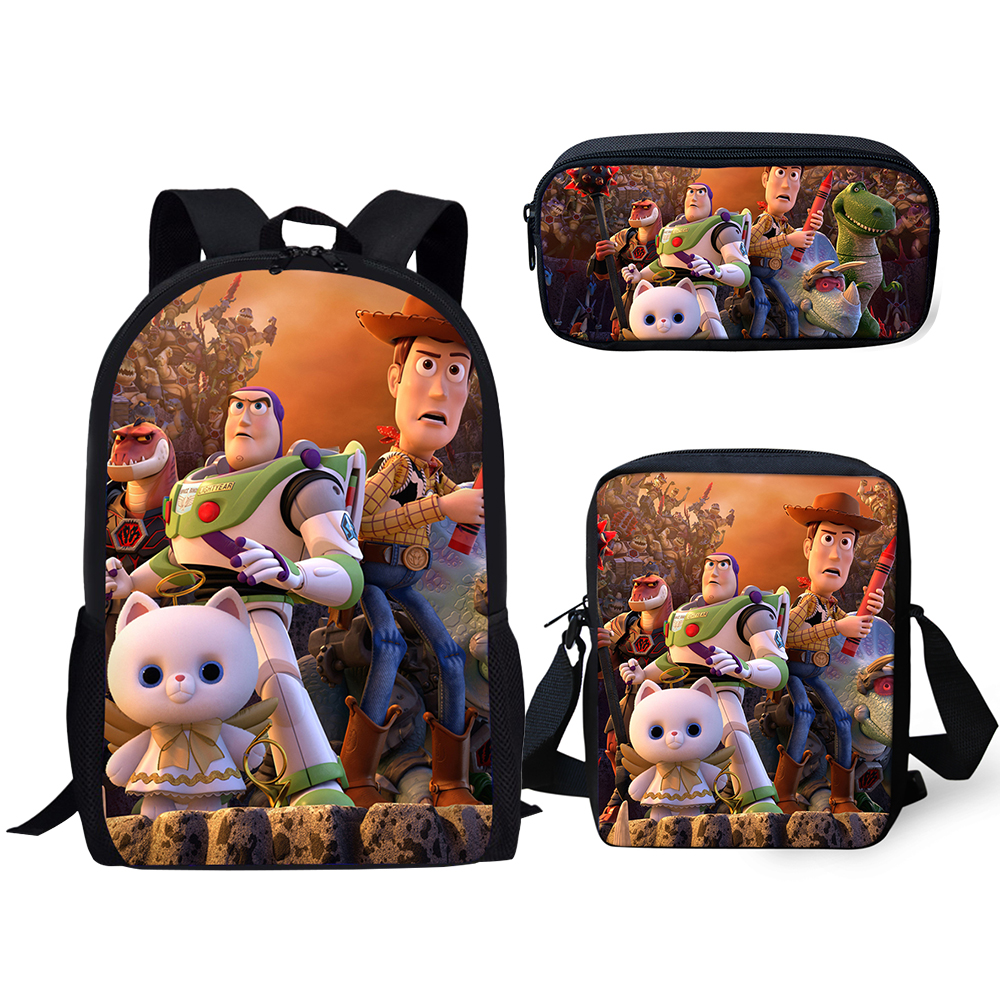 HaoYun Children's Backpack Toy Story Pattern Students School Bags Cartoon Annime 3PC/Set Teenagers Book-Bags Mochila Rucksack