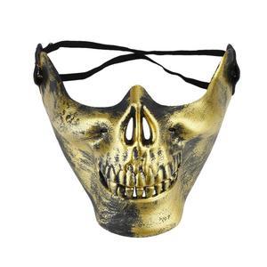 Image 5 - 2020 Year Halloween half face skull mask skull warrior mask CS actual combat mask horror face mask Free Shipping