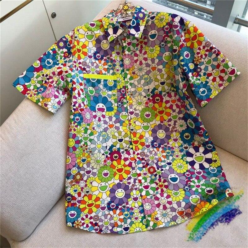 2020ss J Balvin × Takashi Murakami Shirt Men Women 1:1 Top-Quality Streetwear Fashion J Balvin Tees Takashi Murakami Shirts