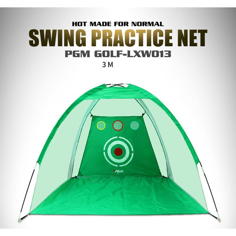 Indoor Outdoor Foldable Golf Practice Net Golf Hitting Cage Garden Grassland Practice Tent Golf Training Equipment