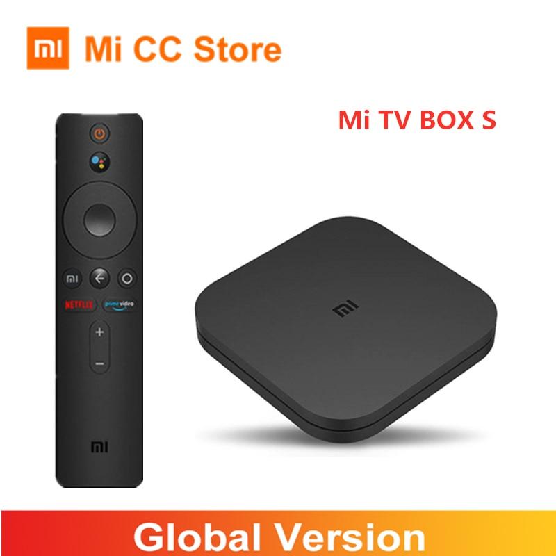 Version mondiale Xiaomi Mi Box S 4K Ultra HD Android 9.0 HDR 2GB 8GB WiFi BT4.2 Google Cast Netflix Smart TV Box 4 lecteur multimédia