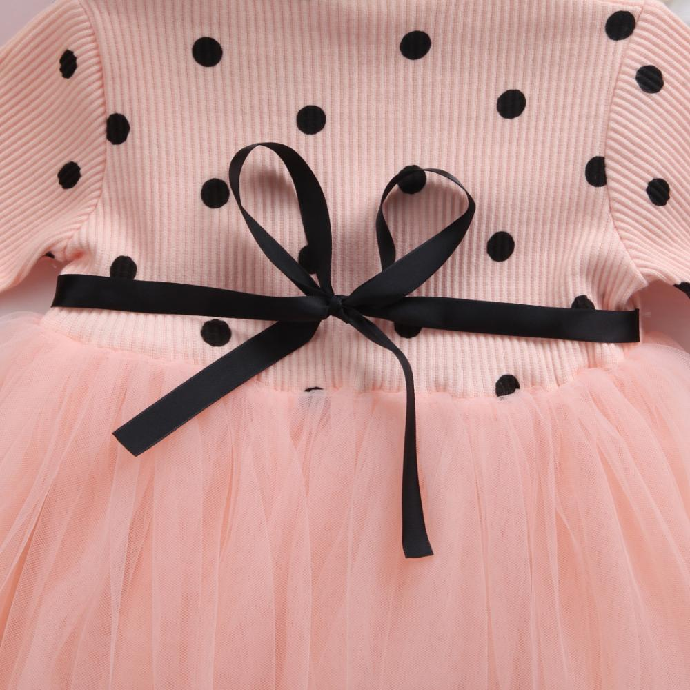 Baby Long Sleeve Dress for Girl Children Costume Gift School Wear Kids Party Dresses for Girl 1 2 3 4 5 Years Holiday Clothes 6