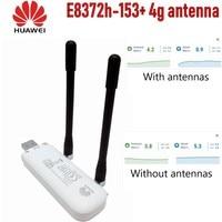 (+2pcs antenna+ Base charger)Unlocked Huawei E8372h 153 Cat4 WiFi Dongle 3G 4G FDD 150Mbps Wireless Modem