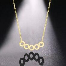 Collares y colgantes redondos sencillos elegantes de Cherida collares geométricos encantadores de oro de la vendimia regalos de Navidad para el regalo de la novia de las mujeres