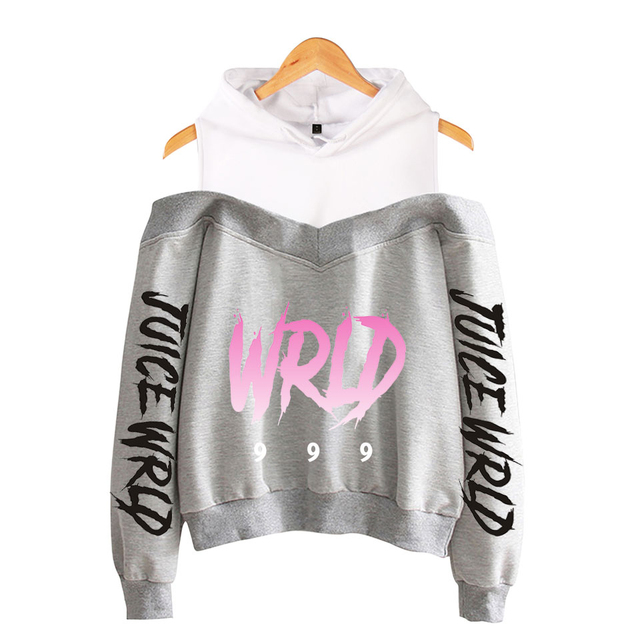 JUICE WRLD CROP TOP OFF-SHOULDER HOODIE (16 VARIAN)