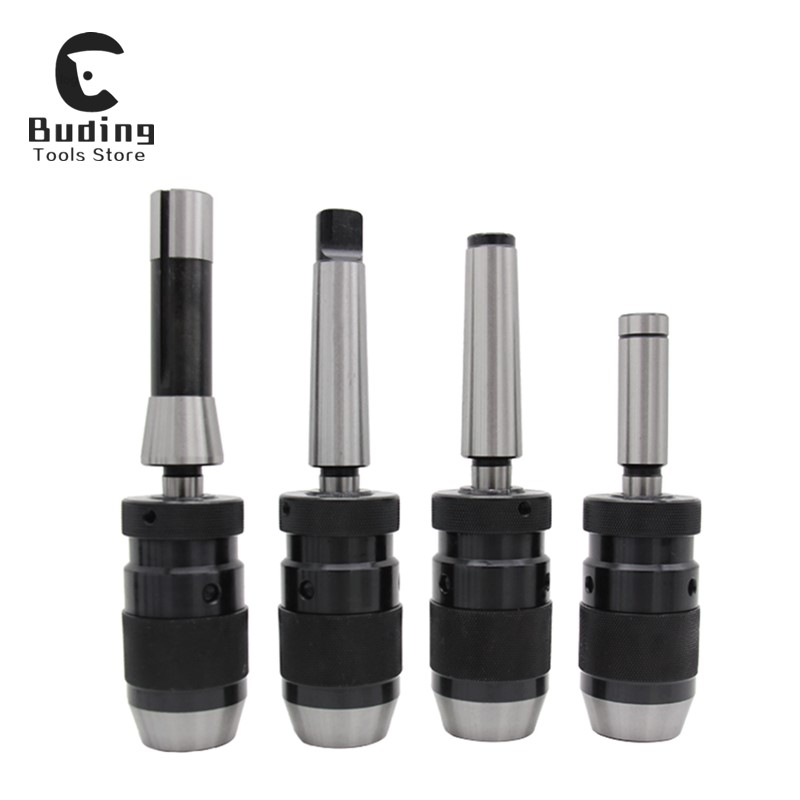 Integrated drill chuck milling machine self-locking Morse taper shank R8 APU CNC straight shank self-tightening drill chuck image