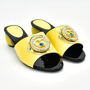 Image 2 - Buty damskie klapki na lato dobrej jakości buty ślubne damskie włoskie ozdobione Rhinestone klapki do noszenia na co dzień dla obuwia damskiego