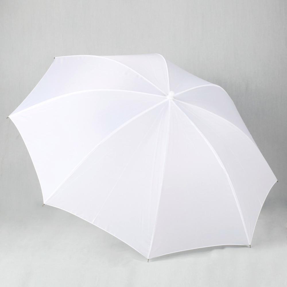 Lightweight 33in 83cm Pro Studio Photography Flash Translucent Soft Lambency Umbrella White Nylon Material Aluminum Shaft