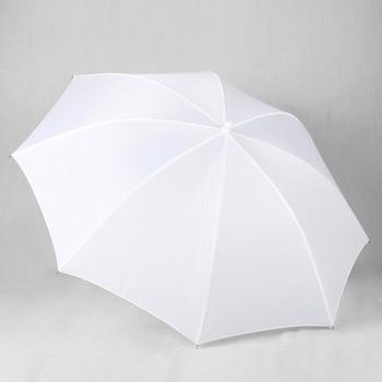 Leichter 33-Zoll-83-cm-Pro-Studio-Fotografie-Blitz mit durchscheinendem, weichem Lambency-Regenschirm aus weißem Nylonmaterial, Aluminiumschaft