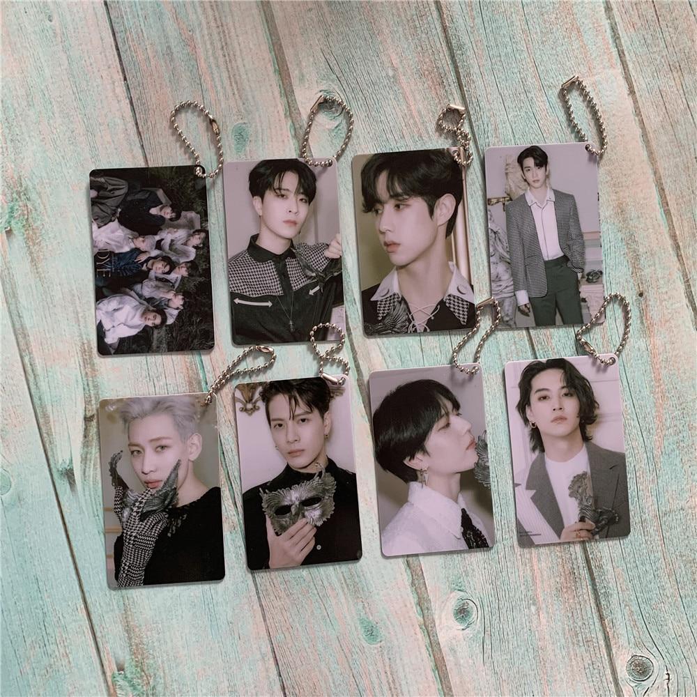 Kpop GOT7 Keychain Key Ring Chain PVC Card Accessories GOT7 Album Dye Mobile Phone Accessories Kpop Supplies High Quality