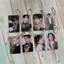 Kpop GOT7 Keychain della catena dell'anello Chiave di Carta del PVC Accessori GOT7 Album Dye Accessori Per Cellulari E Smartphone Kpop Forniture di Alta qualità(China)
