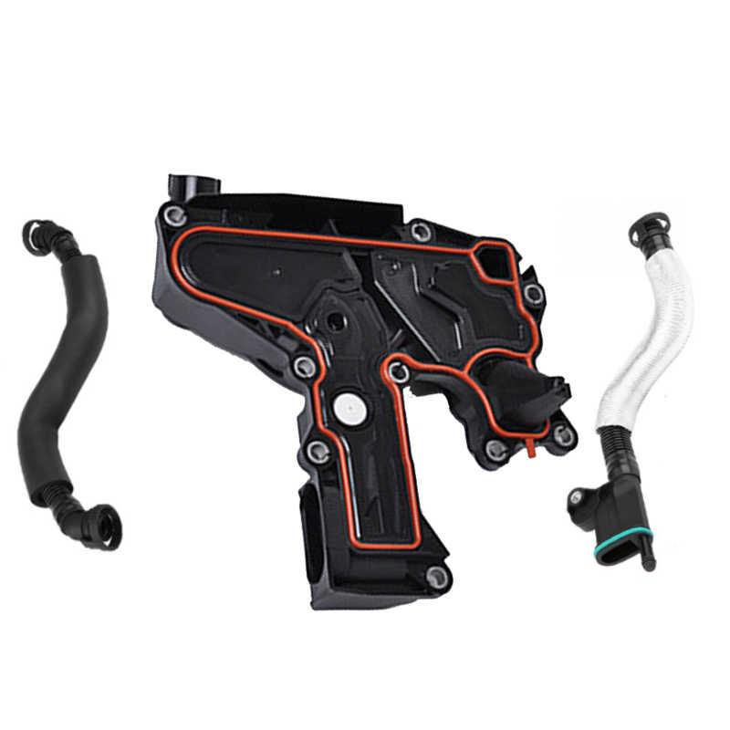 06H 103 495 Ah Minyak Pemisah Pcv Valve + 2 Buah Selang Pipa untuk Audi TT A4 Q5 untuk VW Skoda Golf Kursi 1.8/2.0TSI 06H103226A 06H103495E