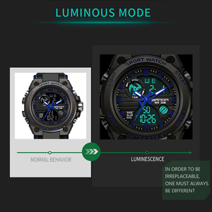 Image 3 - Sports Mens Watch Top Brand Luxury Military Quartz Electronic Watches Waterproof Vibration Alarm Clock relogio masculino SANDA