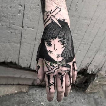 Waterproof Temporary Tattoo Sticker cool Fake Tatto Flash Tatoo Japan anime Spirited Away Tato body art for Girl Women Men 1