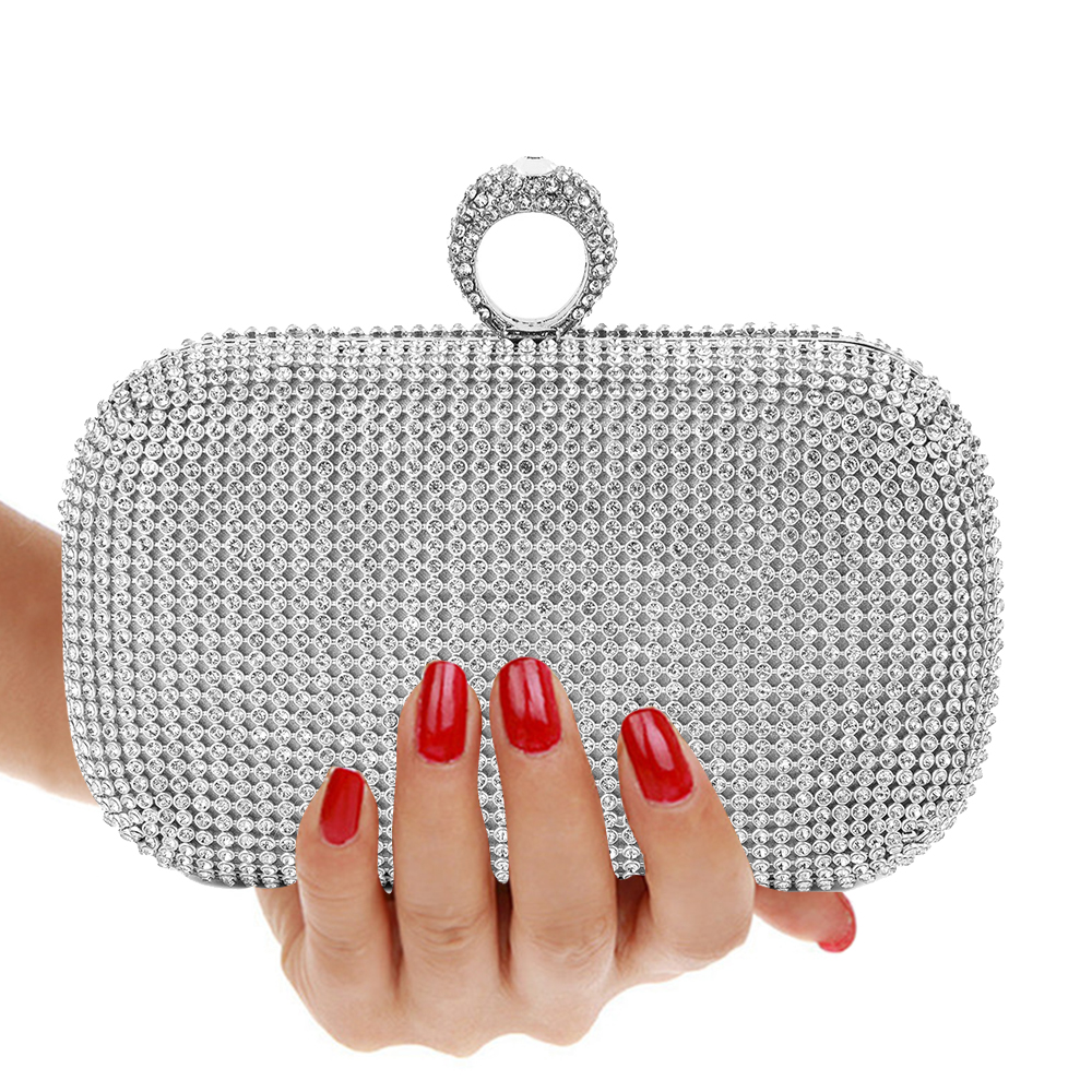 Evening Clutch Bags Purse Diamond-Studded Evening Bag With Chain Shoulder Bag Women's Handbags Wallets Evening Bag For Wedding