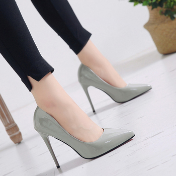 Plus Size 34-44 HOT Women Shoes Pointed Toe Pumps Patent Leather Dress High Heels Boat Shoes Wedding Shoes Zapatos Mujer 11