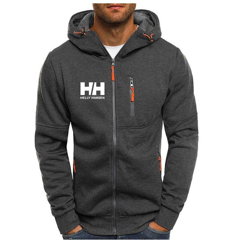 New Fashion Hoody Thin Jacket HH Printed Men Hoodies Sweatshirts Casual Sportswear Hooded Coat Zip Cardigan M-3XL