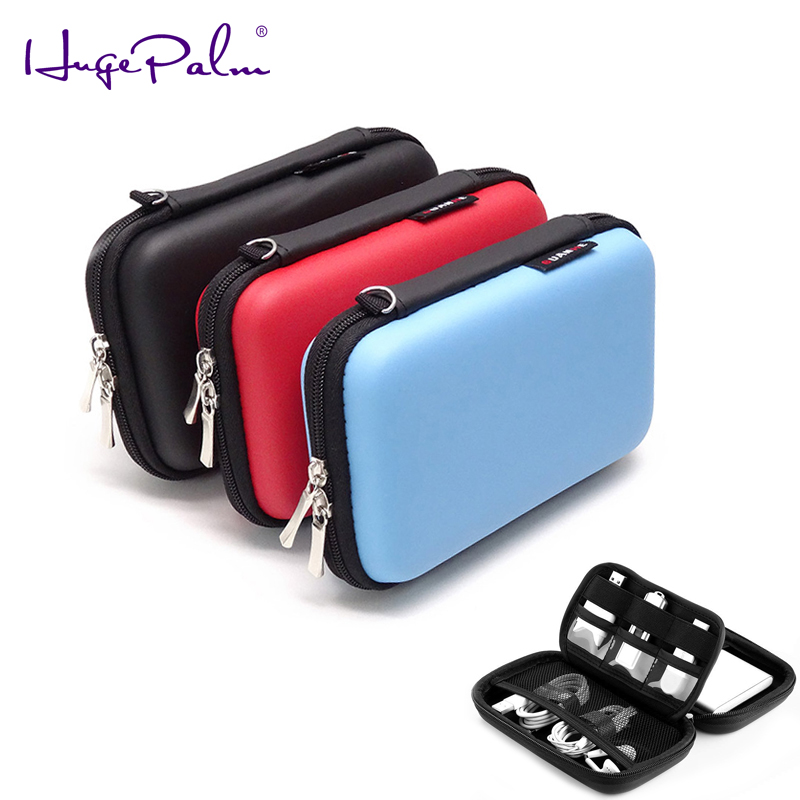 """Carrying Protection Storage HDD hard drive Bag for 2.5"""" hdd enclosure hard drive case power bank SD/TF card data cable earphone"""