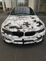 Black White Camouflage Camo Vinyl Wrap Car Decal Film Sheet Air Release Self Adhesive Car Wrapping Foil