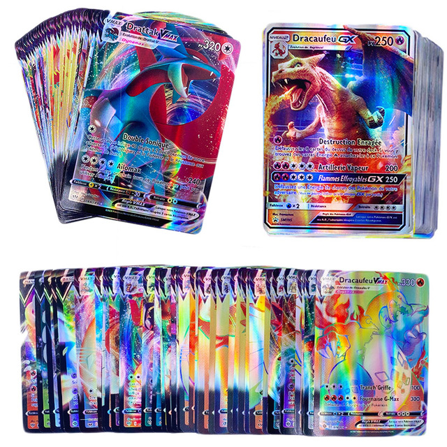 French Pokemon Cards TAG TEAM GX V MAX VMAX Shining Card Game Battle Carte Trading Game Children Francaise Toy
