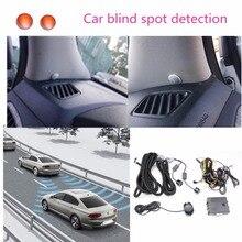 จุดตาบอดรถกระจกRadar DetectionระบบBSD BSA BSMไมโครเวฟBlind Spot Monitorเครื่องตรวจจับเรดาร์ที่มีนาฬิกาปลุกและLEDสำหรับรถ