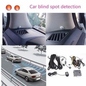 Image 1 - Sistema de Detección de Radar de espejo de punto ciego para coche, BSD, BSA, BSM, Monitor de punto ciego para microondas, detectores de Radar con alarma y LED para coche