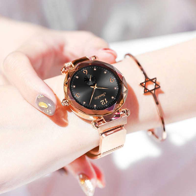 Montre Femme SUNKTA Ladies Watch Women Quartz Watches Mesh Steel belt Women's Bracelet Watches Female Clock Relogio Feminino