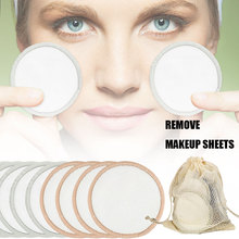 Многоразовые подушечки для снятия макияжа с сумкой для хранения, ватные подушечки, очищающие салфетки для лица ZGOOD
