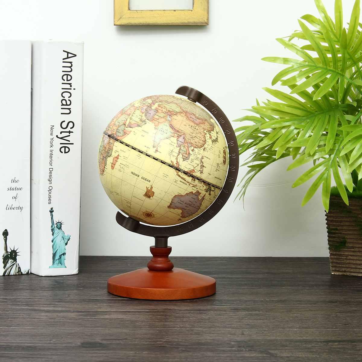 New 14cm Dia World Map Globe for Home Table Desk Decoration Ornaments Retro Home Decor|Decorative Balls| |  - title=