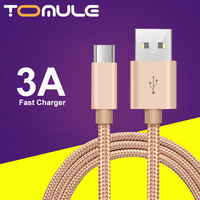 Cavo dati di ricarica rapida tomaie 3A cavo dati caricabatterie Micro type-c USB, adatto per cavi per telefoni cellulari Huawei e Samsung e Xiaomi
