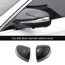 ABS Chrome/Carbon Fiber LHD Car side door rearview mirror cover Trim For Mercedes Benz B C E S GLB GLC Class W205 W213 2pcs
