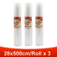 3 rolls 28x500cm-TINTON LIFE vacuum bags for food Fresh Long Keeping 12+15+20+25+28cm*500cm Rolls/Lot bags