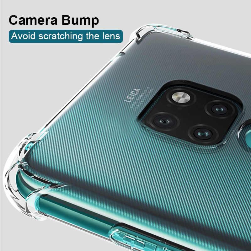 Darbeye dayanıklı telefon kılıfı için Huawei P akıllı 2019 Nova 3 3E 2i P30 P20 Lite yumuşak TPU silikon kapak P20 P10 mate 10 20 P30 Pro