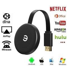 TV Stick Miracast 2,4G inalámbrico pantalla Wifi inalámbrico Mirascreen compatible con HDMI para Youtube, Netflix Chromecast