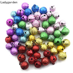 50PCS Jingle Bells Iron Gold Silver Bell Beads Small Festival Christmas Crafts Decoration Accessories Bells for Crafts