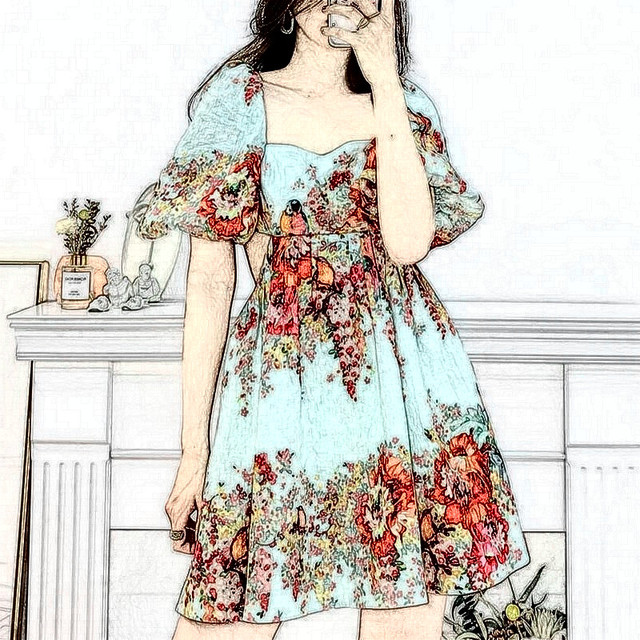 FCZHQ Women open back sexy print mini dress 322 1