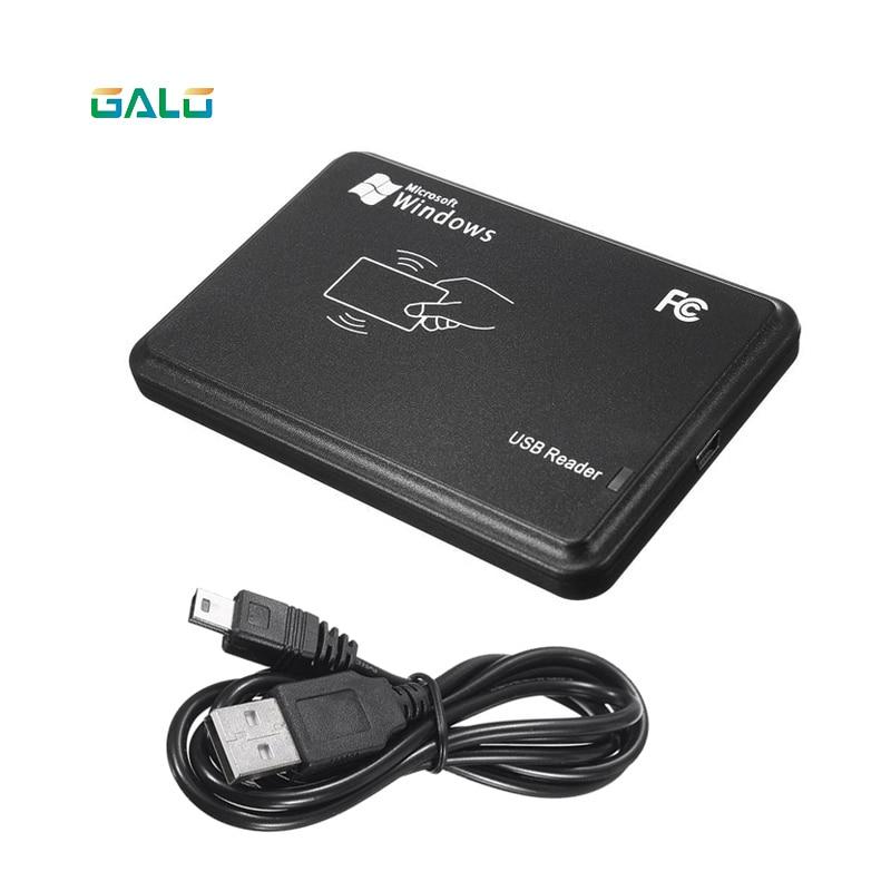 Black USB RFID Contactless Sensor Smart ID EM4001 125KHz Card Reader TK4100