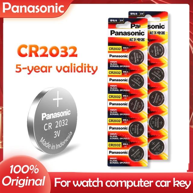 10 個オリジナルパナソニックCR2032 2032 3v高性能ボタン電池送料無料!