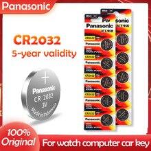 Оригинальные Высокопроизводительные батарейки PANASONIC CR2032 2032 3 в, 10 шт., Бесплатная доставка!