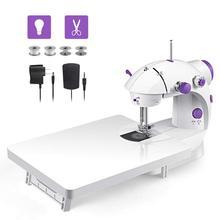 2019 Mini Handheld Portable Sewing Machine Stitch Dual Speed Adjustment with Light Foot Sew needlework Electrec Sewing Machine