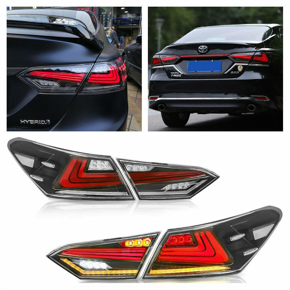 4PCS LED Tail Lights For Toyota Camry Signal Light Lamp 2018 2019 2020 Rear Lamp Dynamic Indicator C