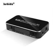 Kebidu HDMI répartiteur commutateur 2.0 4K HDMI 2.0 commutateur 4x1 4 en 1 sortie HDMI commutateur Audio extracteur avec ARC pour Nintend HDTV pour PS4