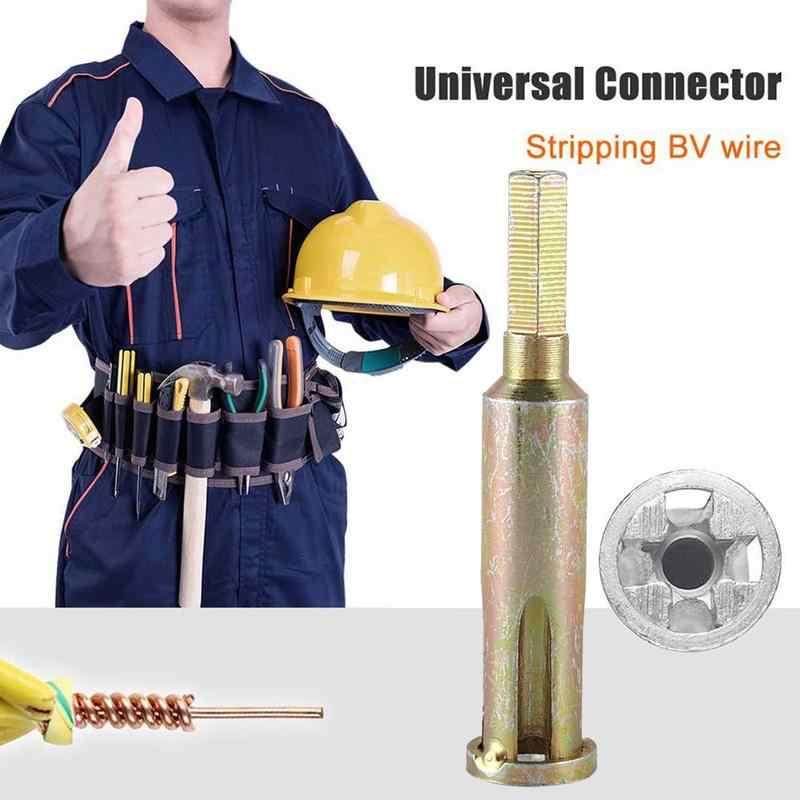 Descascador de fio automático e torção ferramenta sexagonn eletricista dobrando fio conector bloco terminal tipo universal cabeça dobadoura