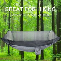 Quick Open Mosquito Net Tree Simple Tent Parachute Cloth Anti mosquito Swing Hammock For Outdoor Camping