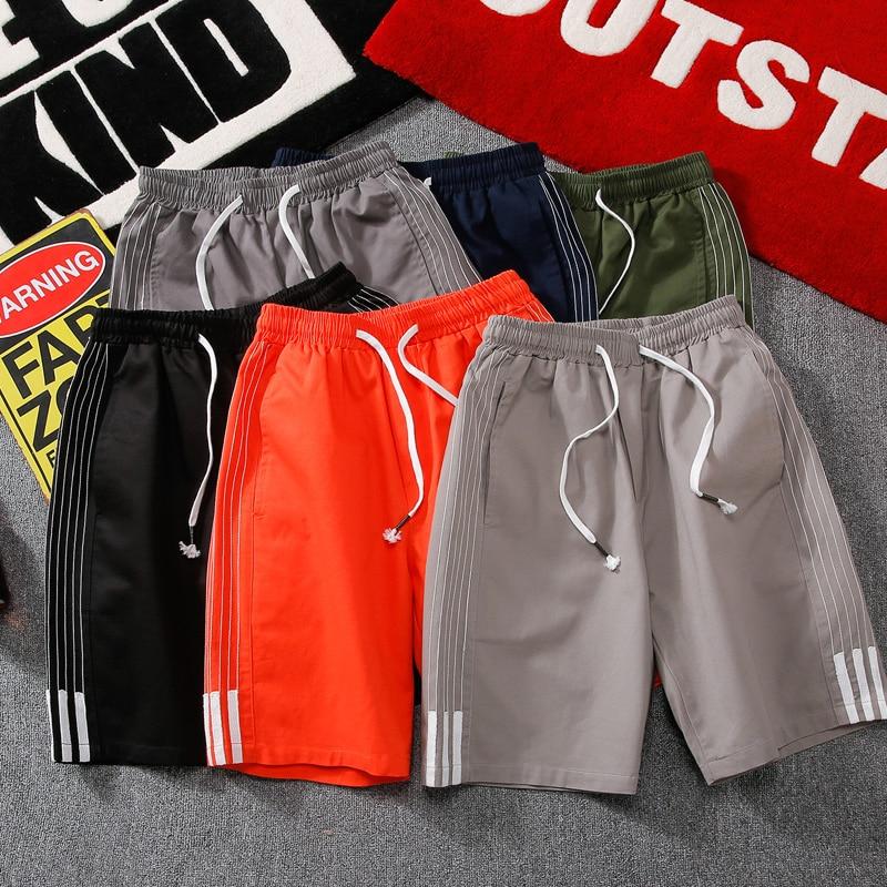 Kksky Summer Men Casual Short New Mens Cotton Fashion Short Male Mid Waistlinedrastring Beach Shorts Brand Clothing Big Size 5xl