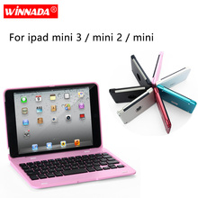 Case for ipad mini 1 2 3, 7.9 inch case with Bluetooth Keyboard full body Smart PC cover flip-open coque