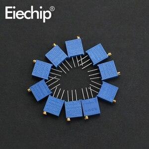 20pcs/lot 3296W Potentiometer 10K 100 500 ohm 1K 2K 20K Variable Resistor 3296 50K 100K 200K 500K 1M ohm Trimmer Potentiometers(China)